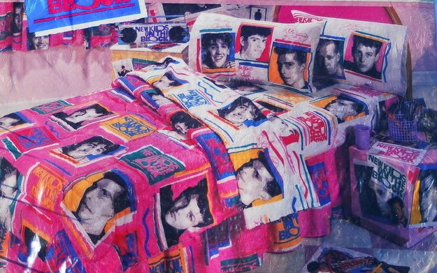 Your room was DECKED. OUT. You had full-on NKOTB bedding: bedsheets, comforter, pillowcases, shams...