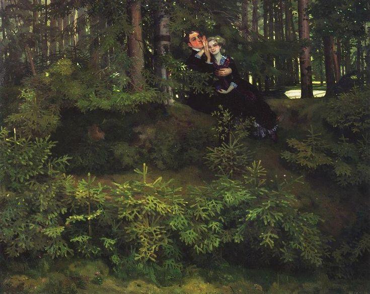 Dans la Forêt, 1914 de Konstantin Somov (1869-1939, Russia)