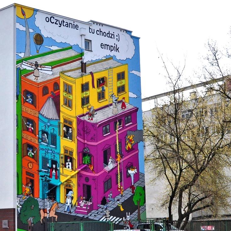 oCzytanie tu chodzi ;) Nasz książkowy mural jest już gotowy! Możecie go podziwiać w pełnej okazałości na budynku Solec 85 na warszawskim Powiślu.