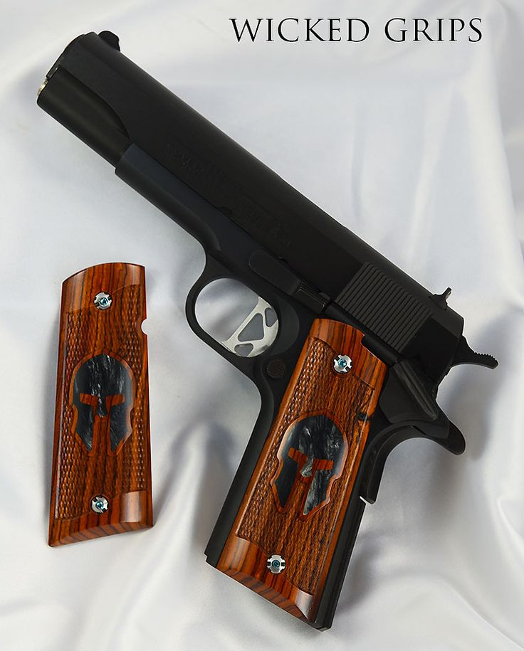 1911 WOOD GRIPS - 1911 wicked wood grips set 379 coco pearl