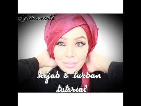 Side Sweep Hijab tutorial & (bonus) Turban Tutorial |by fatihasWORLD - YouTube