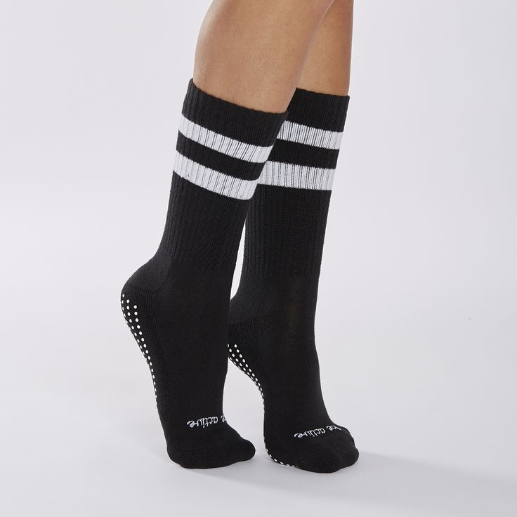 sticky be socks - CREW Be Active Grip Socks (Black/White), $18.00…