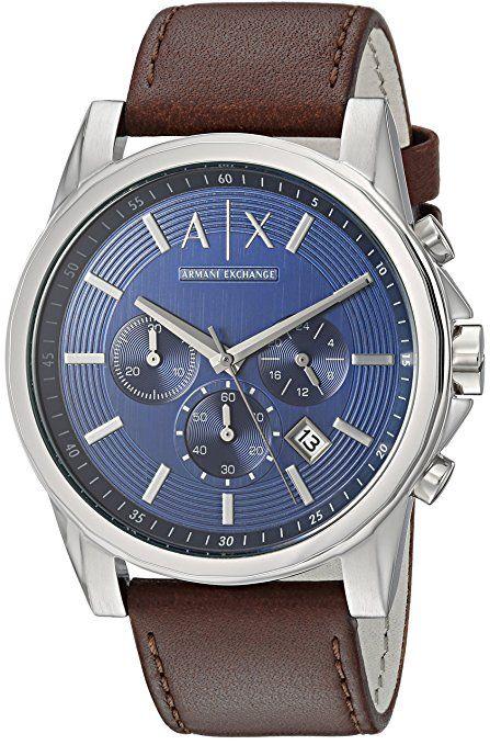 Armani Exchange Men s AX2501 Brown Leather Watch  771997d735e23