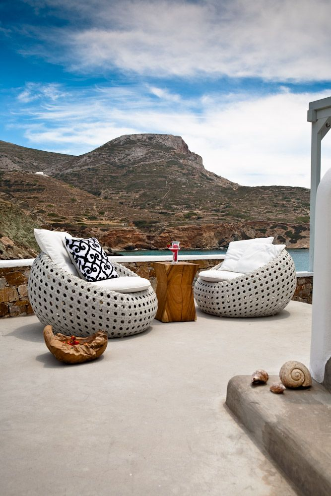 Hotel/ Folegandros/ Greece.   furniture : MIA collections