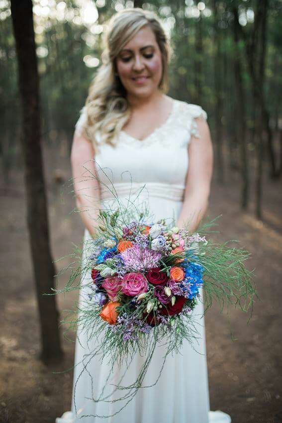 Annerie and her Bridal bouquet