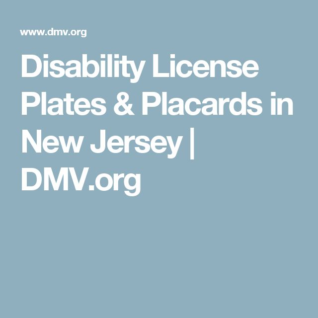 Disability License Plates & Placards in New Jersey | DMV.org