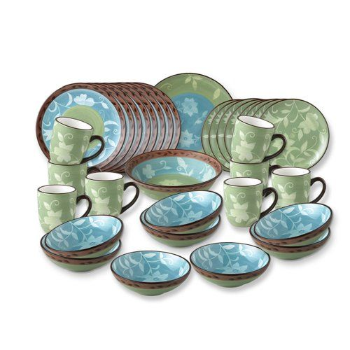 Pfaltzgraff Patio Garden Service For 8 With Serving Pieces