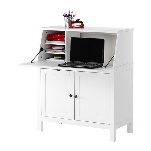 Hemnes secretary white ikea for the home pinterest for Bureau hemnes