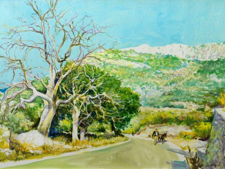 Fák, olaj vásznon, 100x75 cm