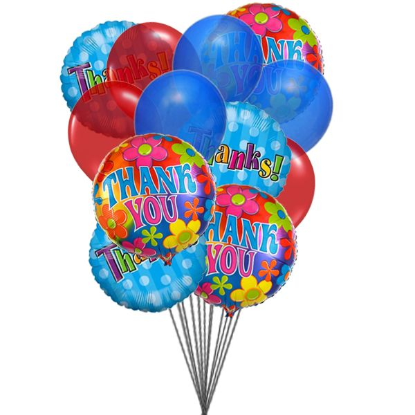 Send colorful Thank You balloons that can spread happiness in the special day of their life. #Send #Balloons Online to #Canada.