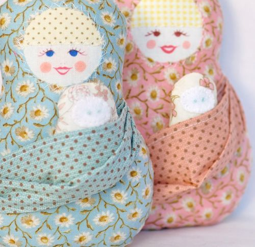 Nesting doll mama and baby