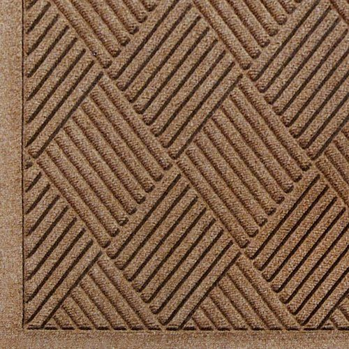 """Andersen 221 Medium Brown Polypropylene WaterHog Fashion Diamond Entrance Mat, 6' Length x 4' Width, For Indoor/Outdoor by Andersen. $96.50. No other mat in the industry traps water and dirt so effectively. WaterHog mats are constructed of rubber reinforced face nubs and the """"diamond"""" design provides crush proof scraping action. The border for WaterHog Fashion features the same 100 percent polypropylene fiber system as the mat surface. Premium 24 oz/sq anti-sta..."""