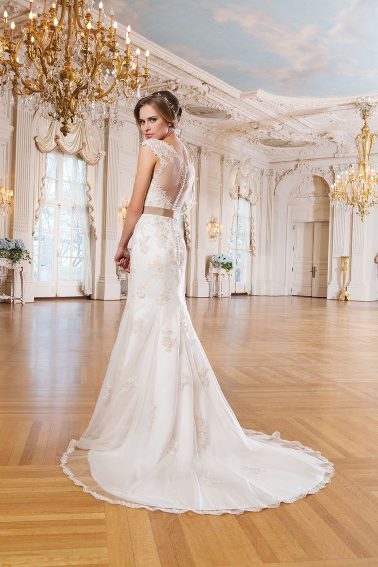 lace open back form fitted back gown from lillian west spring 2015 collection lillian westdesigner wedding
