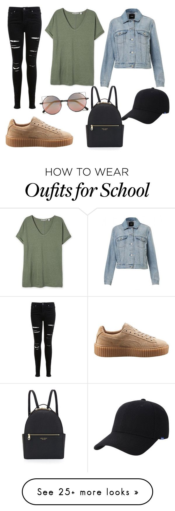 """Casual Outfit for brunch or school"" by grxceh on Polyvore featuring Puma, Miss Selfridge, Henri Bendel, Linda Farrow and Keds"