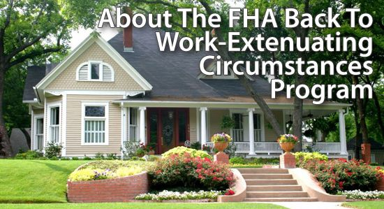 FHA has waived the certain waiting period requirements after short-sales, foreclosures and bankruptcies.  Call me today to see if you qualify for FHA's back to work program.