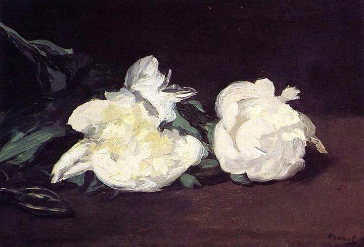 Édouard Manet, 1864, Tak met witte pioenen, Musée D'orsay