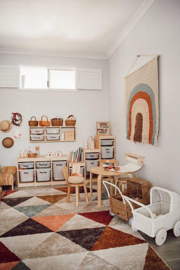 42 Modern Kids Playroom With Genius Storage Ideas Homemydesign Kid Room Decor Modern Kids Playroom Toy Room Decor Decorate kids playroom floor with