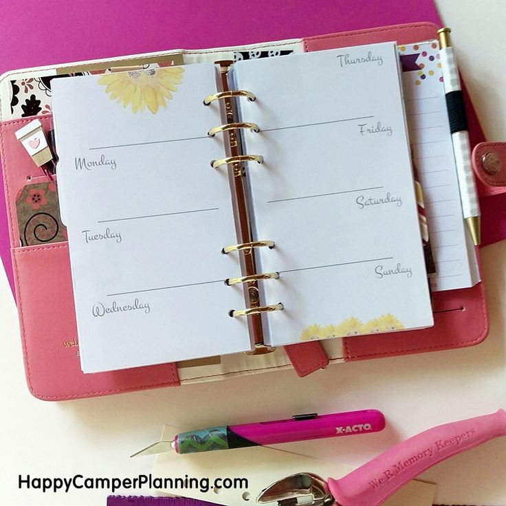Free Printable - Sunflower Personal Planner Inserts