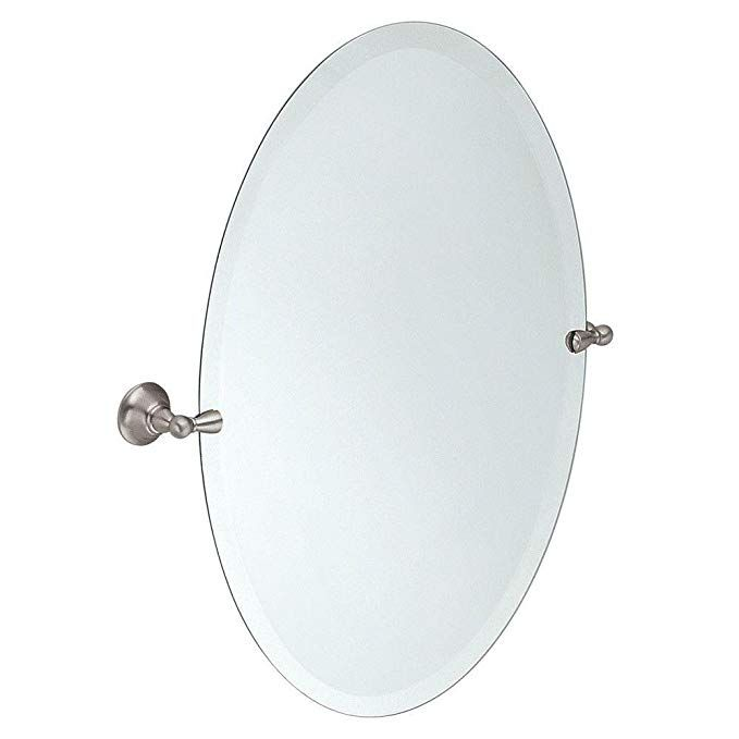Moen Dn6892bn Sage 26 Inch X 23 Inch Frameless Pivoting Bathroom Tilting Mirror Brushed Nickel Revie Moen
