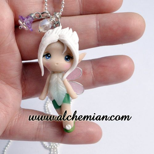 Chibi  Periwinkle Trilly ooak necklace made in italy via Etsy