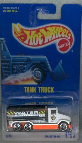 Hot Wheels #147 Tank Truck White w/Black Tank Collectible Collector Car 1:64 by…