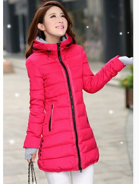 Wadded Jackets Female New Women S Winter Down Jacket Cotton Slim