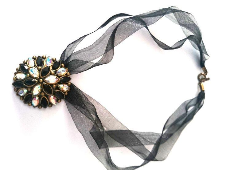 Collar con cristales de swarovski pav y piedras facetadas - Cristales de paves ...