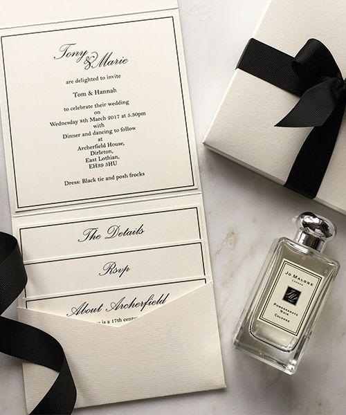 Cream-and-Black-Pocketfold-Invitations