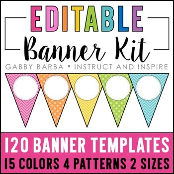 Best 25 classroom bunting ideas on pinterest diy decorate your editable banner solutioingenieria Image collections
