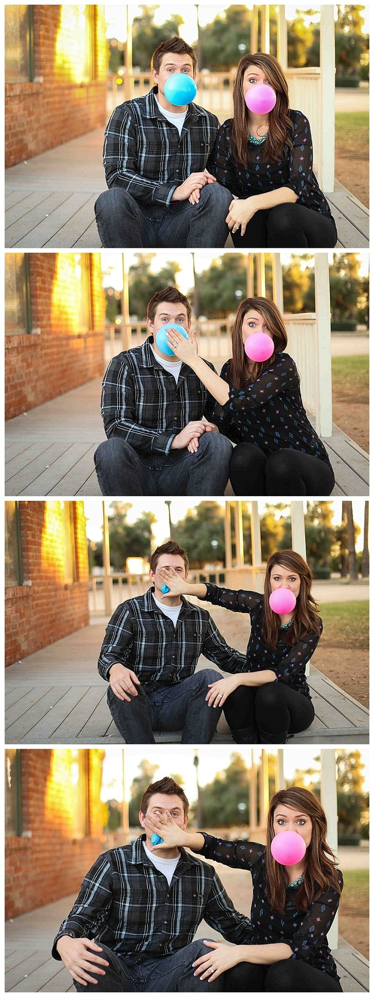 Gender reveal idea. bubble gum. pink and blue. Arizona photographer. Let me see you sparkle photography
