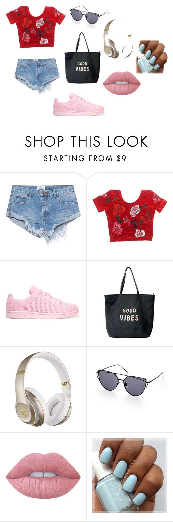 23 by espe-rebollo on Polyvore featuring moda, One Teaspoon, adidas Originals, Venus, Beats by Dr. Dre and Lime Crime