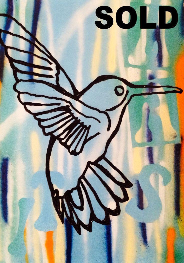 Urban Honey Bird by McDonald | PLATFORMstore. Painting on canvas