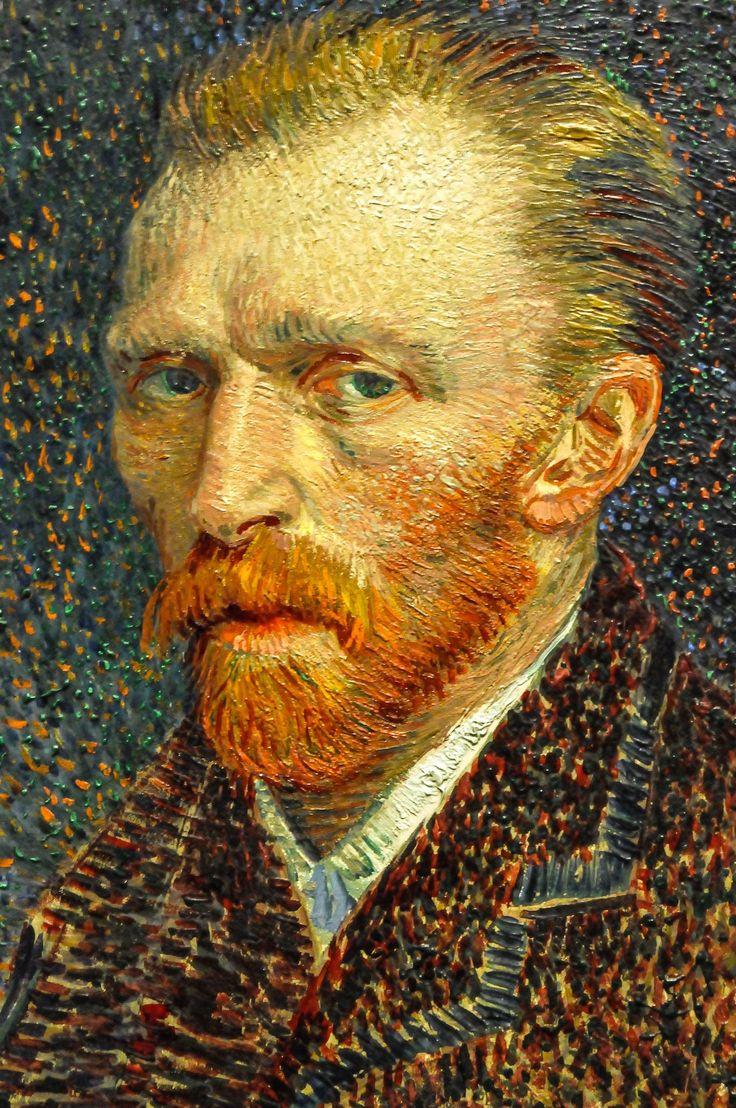 All sizes | Vincent van Gogh - Self Portrait, 1887 at Art Institute of Chicago IL | Flickr - Photo Sharing! #artinstitute