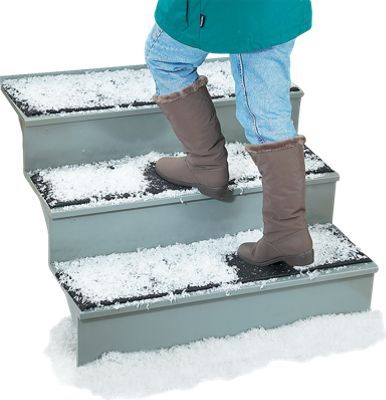 Ice breaker doormat and ice breaker stair mat keep stairs and doorways ice free. Their unique design will allow you to easily sweep away ice throughout the winter months.
