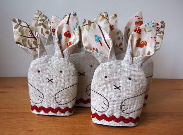 Rabbit egg cosies