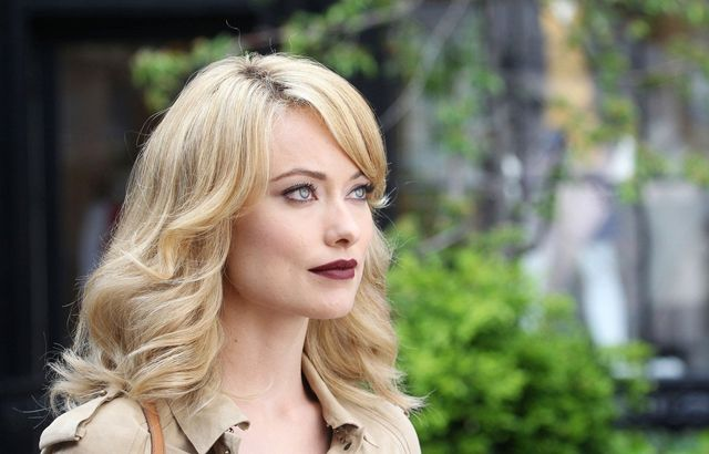 Olivia Wilde Golden Hair with Red Lips <3