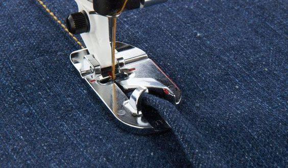 La costura doble de los vaqueros / Felled seams of jeans   mil dedales
