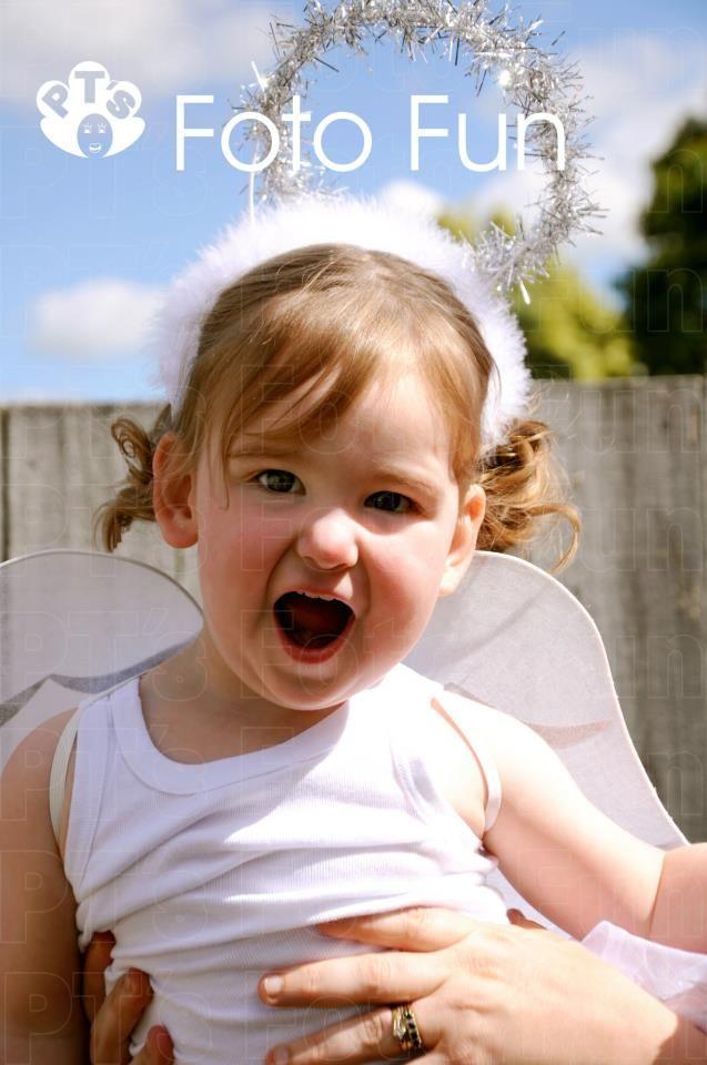 Fun little angel girl