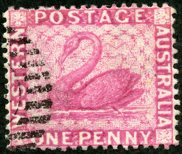 Western Australia  1888 Scott 59 1d rose, Engraved Wmk 2, Perf 14