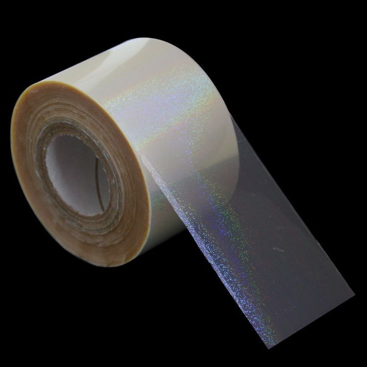 120m*4cm Transfer Foil Paper Sticker Tip Decorations Rainbow Transparent Nail Art Stickers Full Wrap Nail DIY Materials WY265