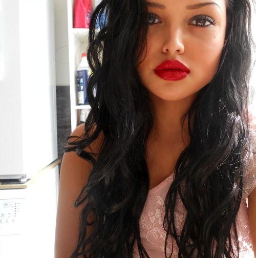 http://chanelpradax.tumblr.com/: Red Lipsticks, Black Hairstyles, Hairstyles ️ ️, Beauty Tips, Hottest Hairstyles, Color, Hair Makeup, Lips Makeup, Red Lip Makeup