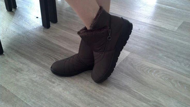 Tienda Online 2016 otoño invierno casual botas de nieve impermeables botas de tobillo de mujer zapatos antideslizantes planas térmicas de invierno de la moda botas de mujer | Aliexpress móvil