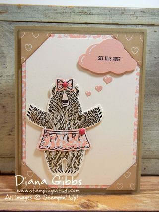 Bear Hugs Valentine Hug Diana Gibbs Stampin' Up! inspired by Carolyn Bennie