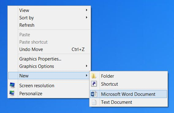 he Right Click Context Menu gives you added functionality by offering you actions you can take with the item. It also lets you create new documents, folders, shortcuts or items when you select the New context Menu. But over time, you may realize that you don't really use most of the items in the New context menu or you may wish to add some entries. We have already seen how we can add, remove, edit all the Context Menu items in Windows.