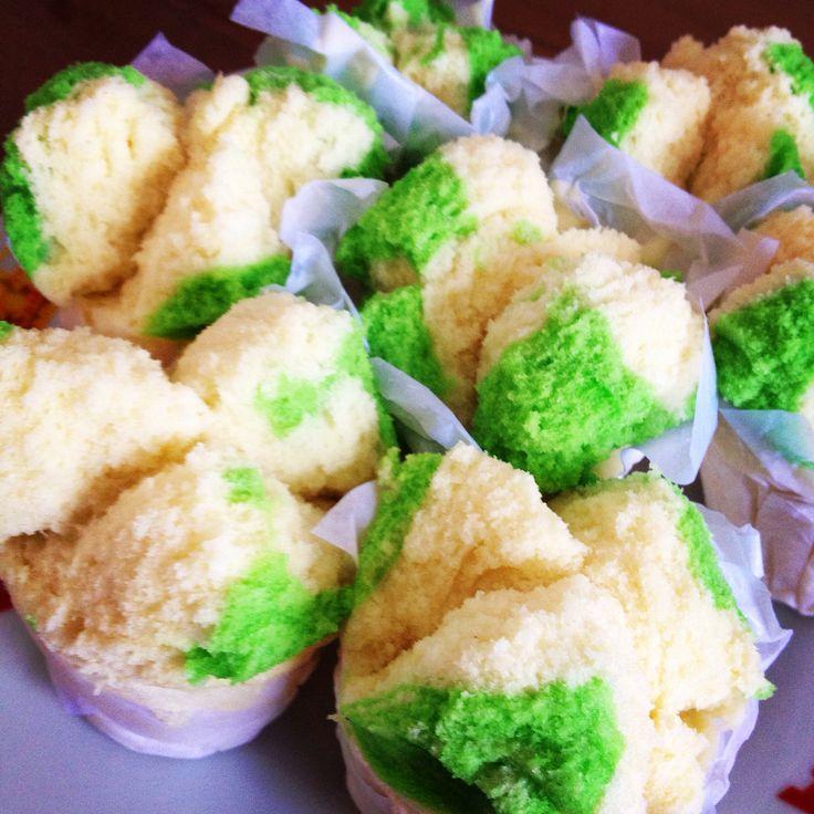Pandan steam cake #bolukukus