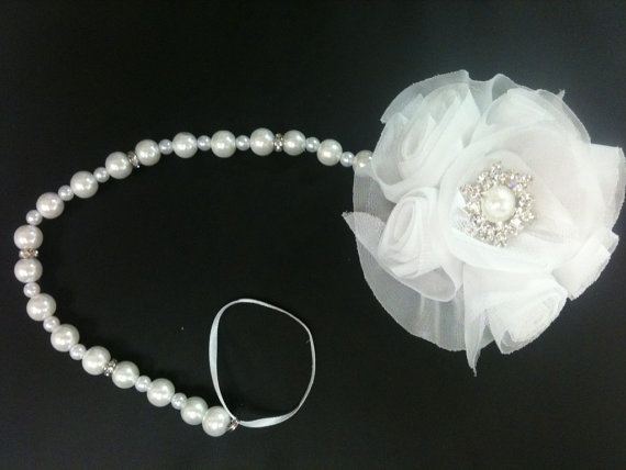 Pearl+Pacifier+Clip+by+CarboCreations+on+Etsy,+$15.00
