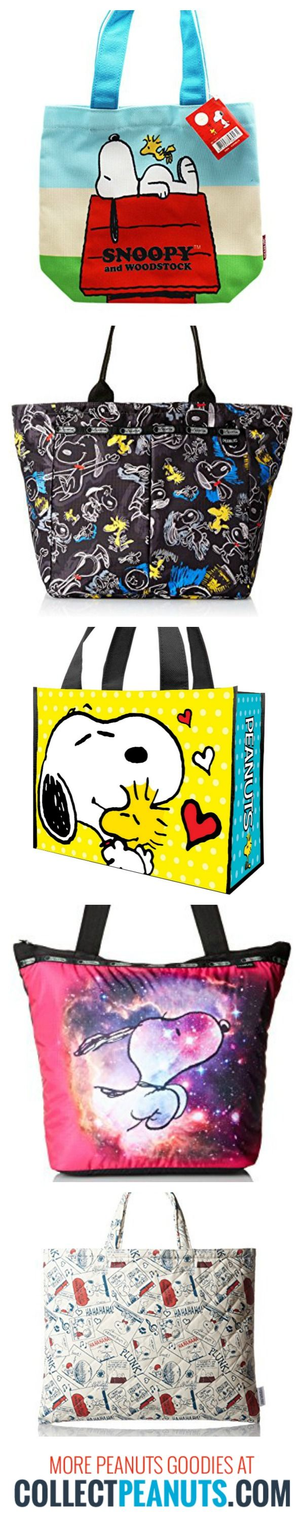 Carry on, Snoopy! When you're on the go, Snoopy keeps everything at hand with Peanuts backpacks, bags, purses and totes. Start shopping via CollectPeanuts.com.