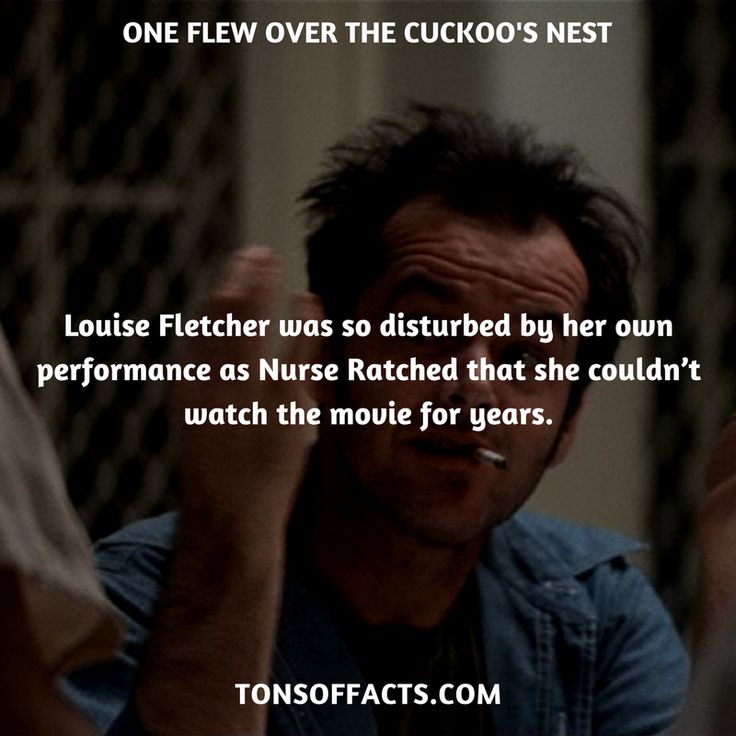 Louise Fletcher was so disturbed by her own performance as Nurse Ratched that she couldn't watch the movie for years. #oneflewoverthecuckoosnest #movies #interesting #facts #fact #trivia #awesome #amazing #1 #memes #moviefacts #movietrivia #oneflewoverthecuckoosnestfacts #oneflewoverthecuckoosnesttrivia