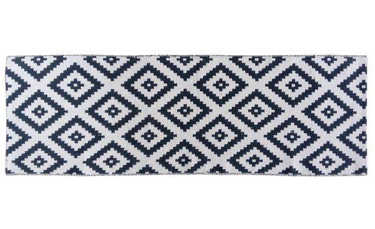 Tappeto CHECKER navy/bianco 60X180 cm – Conforama