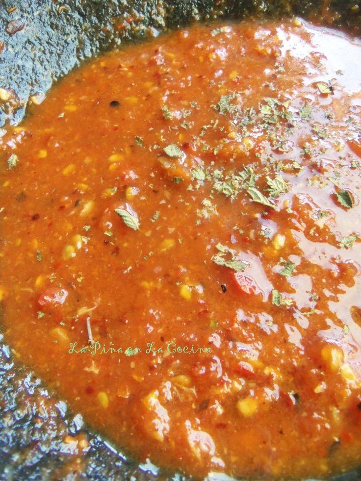 Salsa de Chile de Arbol Molcajeteada